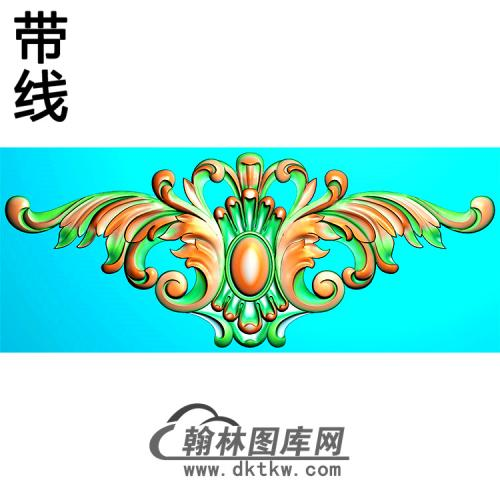 欧式帽顶洋花精雕图(MDH-249)