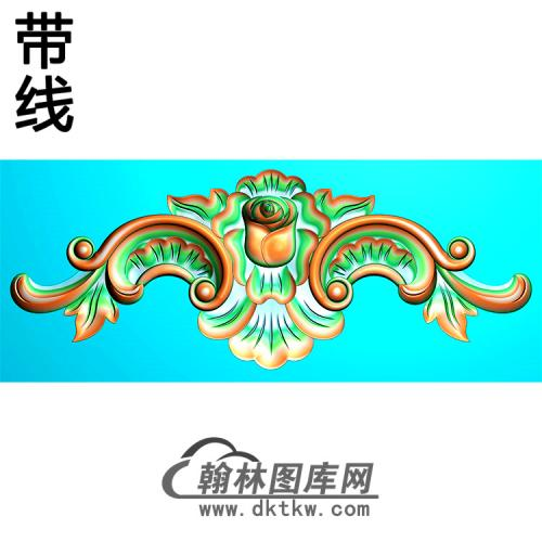 欧式帽顶洋花精雕图(MDH-252)