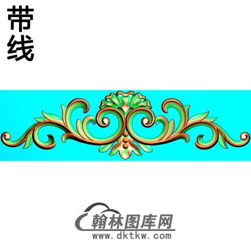 欧式帽顶洋花精雕图(MDH-257)