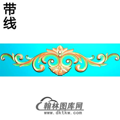 欧式帽顶洋花精雕图(MDH-258)