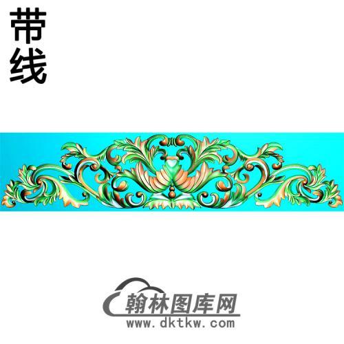 欧式帽顶洋花精雕图(MDH-262)