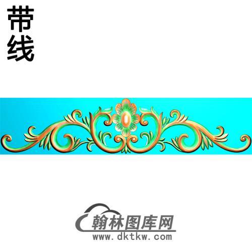 欧式帽顶洋花精雕图(MDH-263)