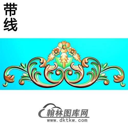 欧式帽顶洋花精雕图(MDH-266)