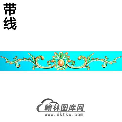 欧式帽顶洋花精雕图(MDH-267)