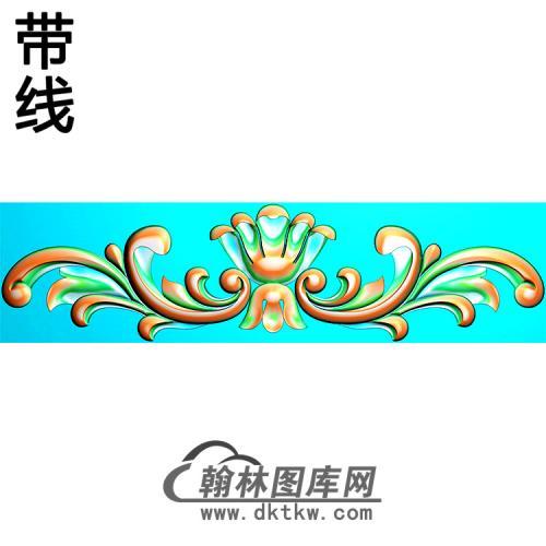 欧式帽顶洋花精雕图(MDH-268)