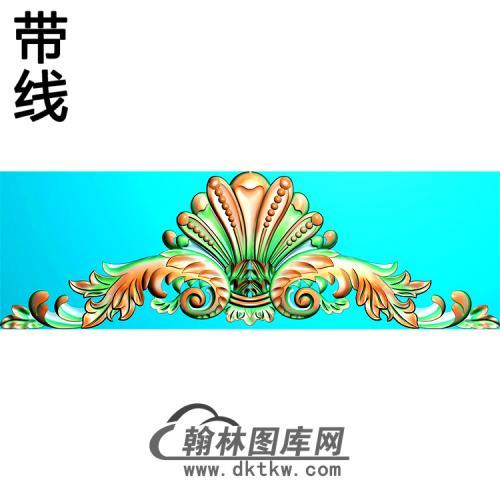 欧式帽顶洋花精雕图(MDH-270)
