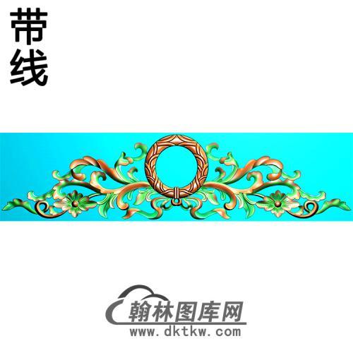 欧式帽顶洋花精雕图(MDH-286)