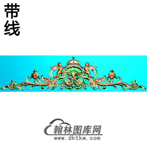 欧式帽顶洋花精雕图(MDH-285)