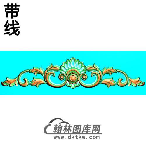 欧式帽顶洋花精雕图(MDH-272)