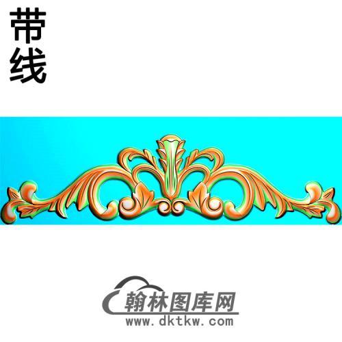 欧式帽顶洋花精雕图(MDH-284)