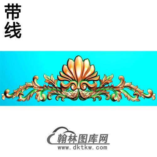 欧式帽顶洋花精雕图(MDH-283)