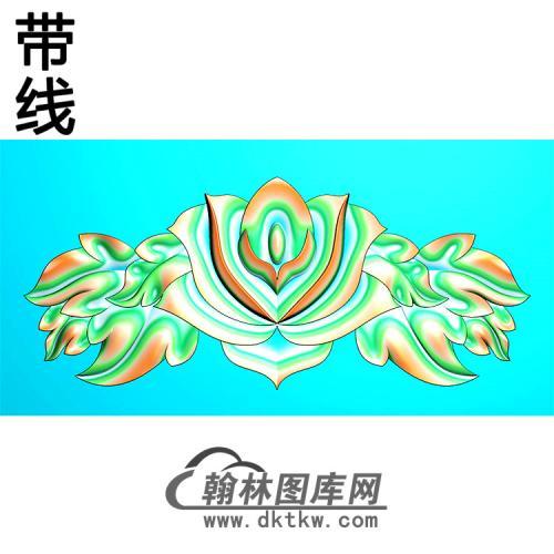 欧式帽顶洋花精雕图(MDH-281)