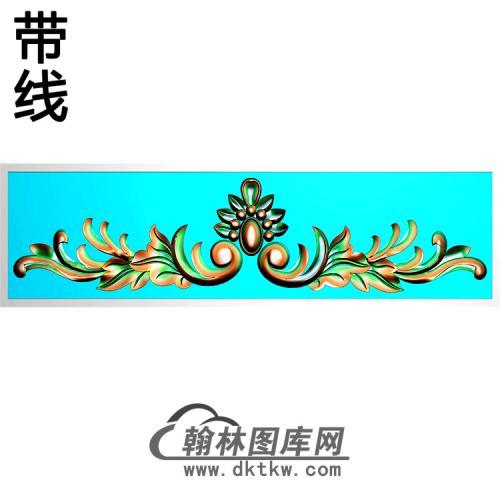 欧式帽顶洋花精雕图(MDH-274)