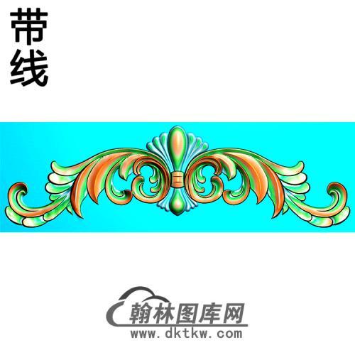 欧式帽顶洋花精雕图(MDH-278)