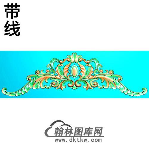 欧式帽顶洋花精雕图(MDH-276)