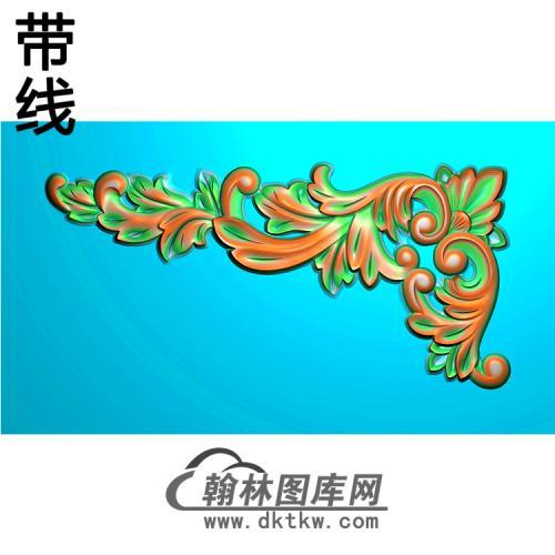 欧式洋花角花精雕图(YJH-002)