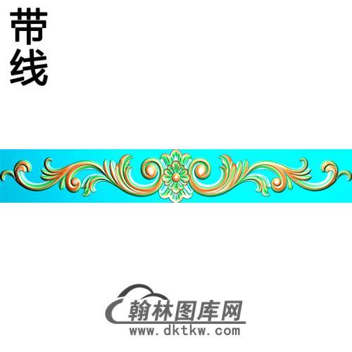 欧式长条洋花精雕图(CTH-014)