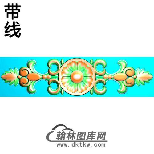 欧式长条洋花精雕图(CTH-017)