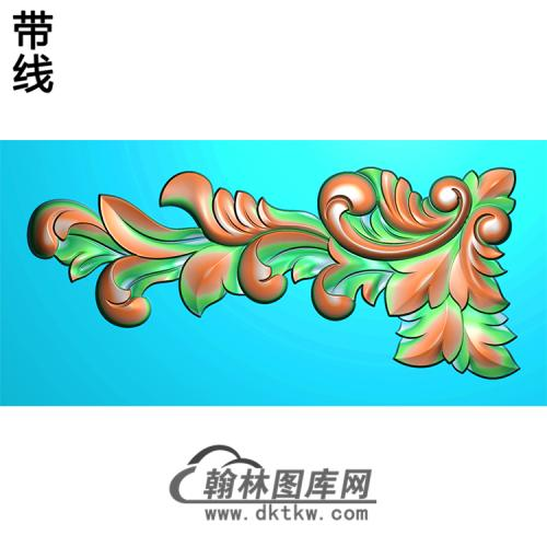欧式洋花角花精雕图(YJH-055)