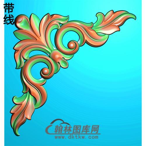 欧式洋花角花精雕图(YJH-057)