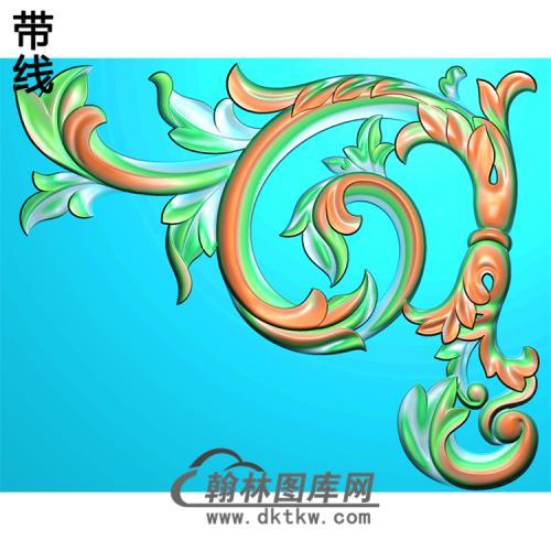 欧式洋花角花精雕图(YJH-059)