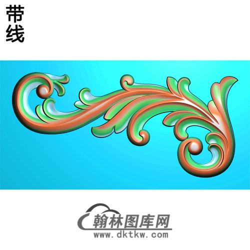 欧式洋花角花精雕图(YJH-066)