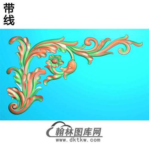 欧式洋花角花精雕图(YJH-084)