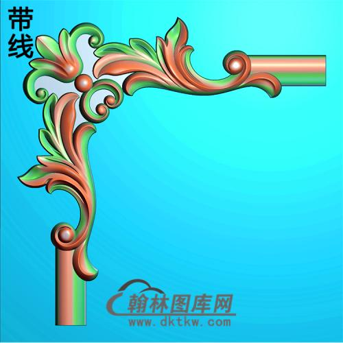 欧式洋花角花精雕图(YJH-104)