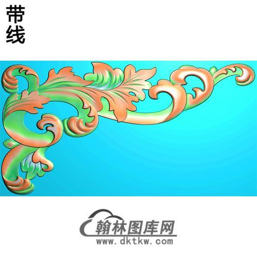 欧式洋花角花精雕图(YJH-106)