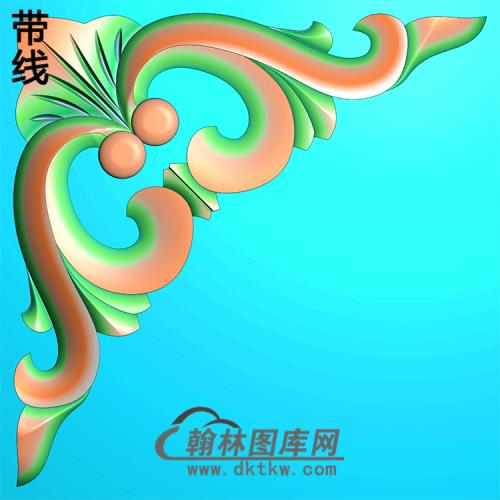 欧式洋花角花精雕图(YJH-107)