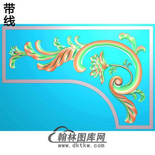 欧式洋花角花精雕图(YJH-108)