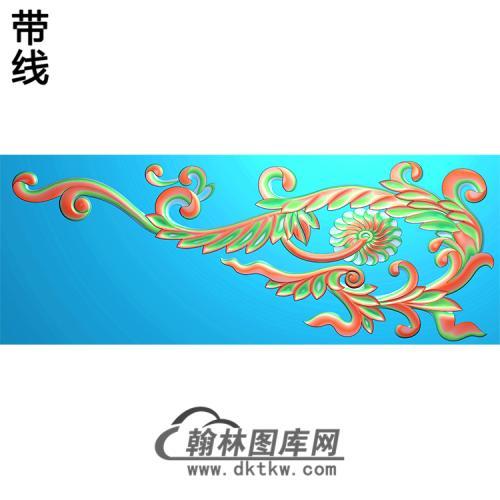 欧式洋花角花精雕图(YJH-109)