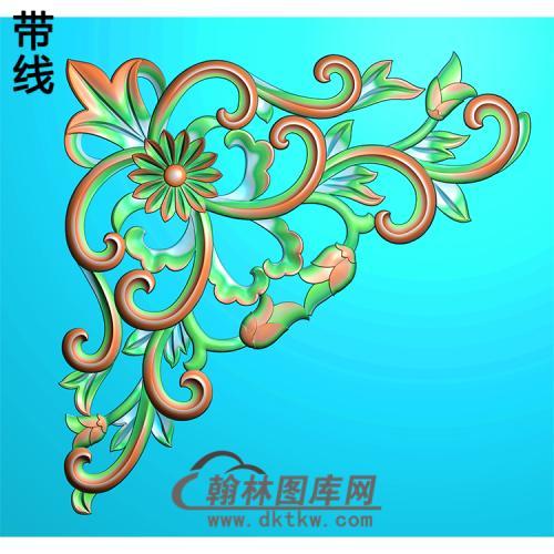欧式洋花角花精雕图(YJH-110)