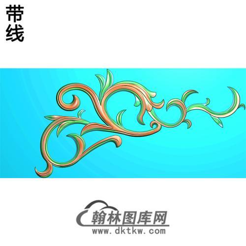 欧式洋花角花精雕图(YJH-111)