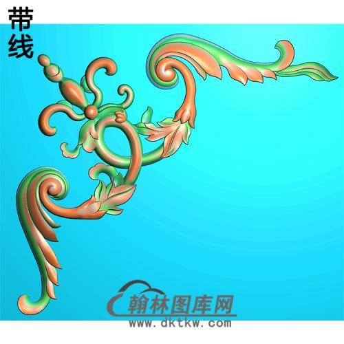 欧式洋花角花精雕图(YJH-112)