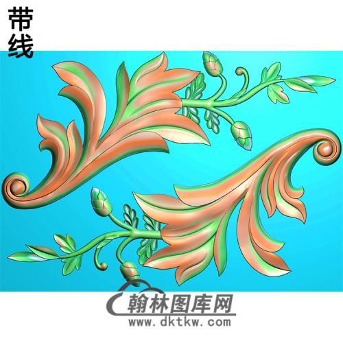 欧式洋花角花精雕图(YJH-113)