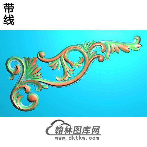 欧式洋花角花精雕图(YJH-114)