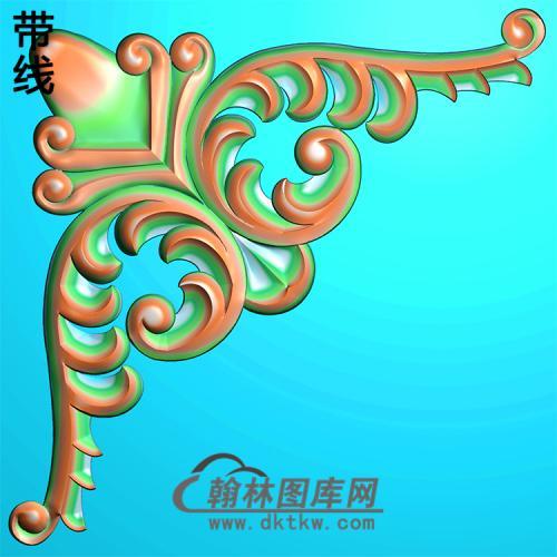 欧式洋花角花精雕图(YJH-115)