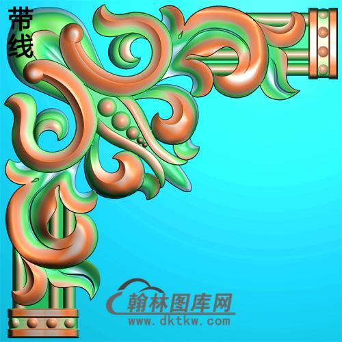 欧式洋花角花精雕图(YJH-117)
