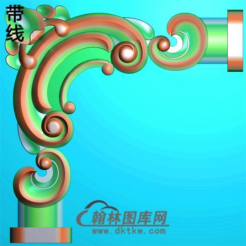 欧式洋花角花精雕图(YJH-118)