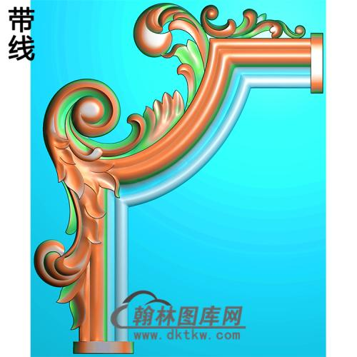 欧式洋花角花精雕图(YJH-119)