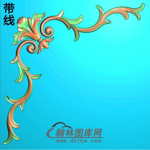 欧式洋花角花精雕图(YJH-120)