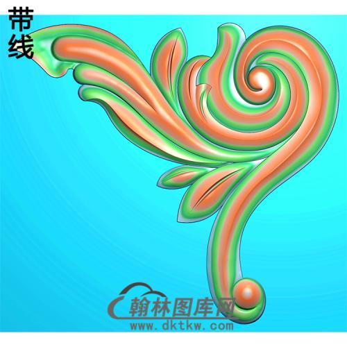 欧式洋花角花精雕图(YJH-121)