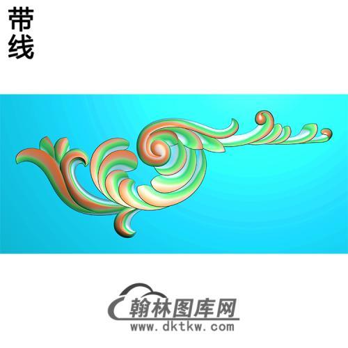 欧式洋花角花精雕图(YJH-122)