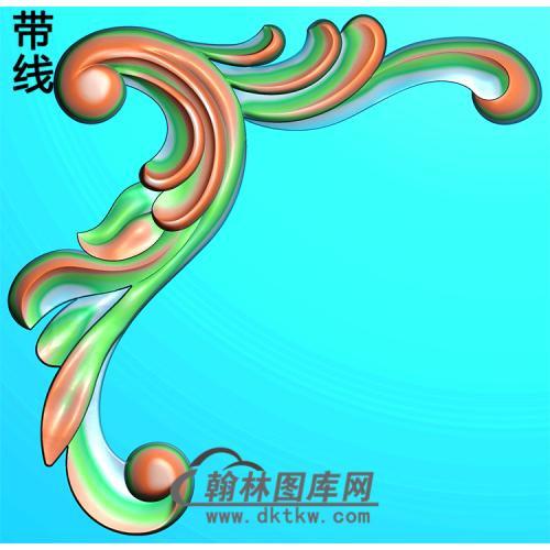 欧式洋花角花精雕图(YJH-123)