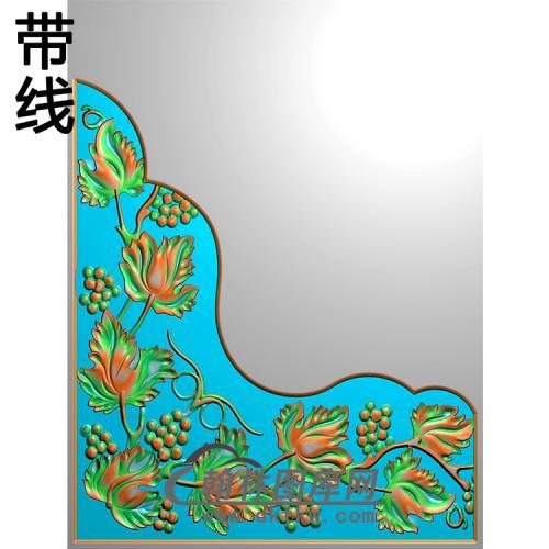 欧式洋花角花精雕图(YJH-125)