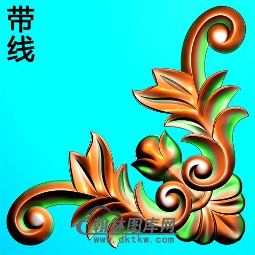 欧式洋花角花精雕图(YJH-127)