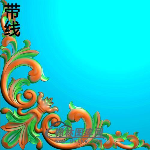 欧式洋花角花精雕图(YJH-129)