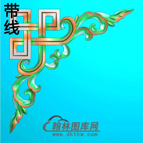 欧式洋花角花精雕图(YJH-130)