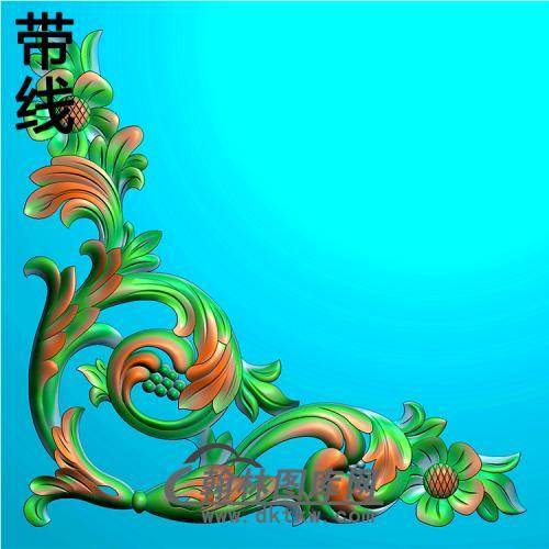 欧式洋花角花精雕图(YJH-131)